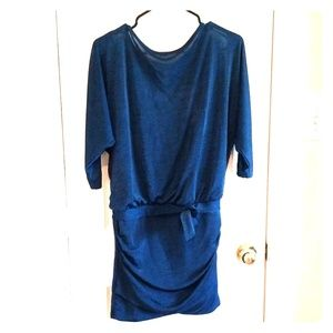 NWT White House Black Market blue dolman dress